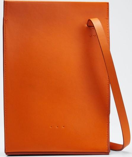 Aesther Ekme Twisted Leather Crossbody Bag  Orange