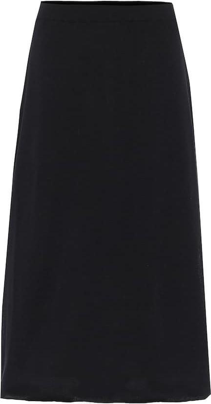 THE ROW Coseti high-rise cotton skirt