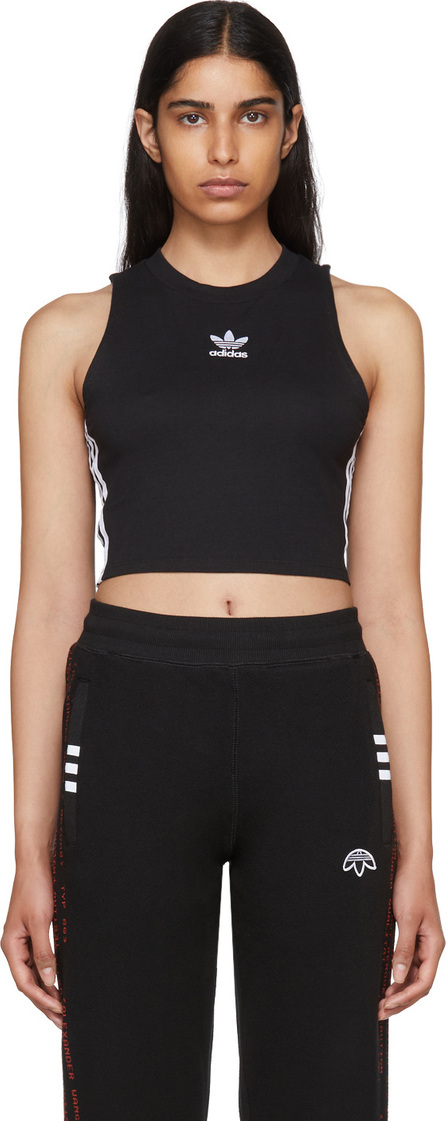 Adidas Originals Black Cropped Tank Top