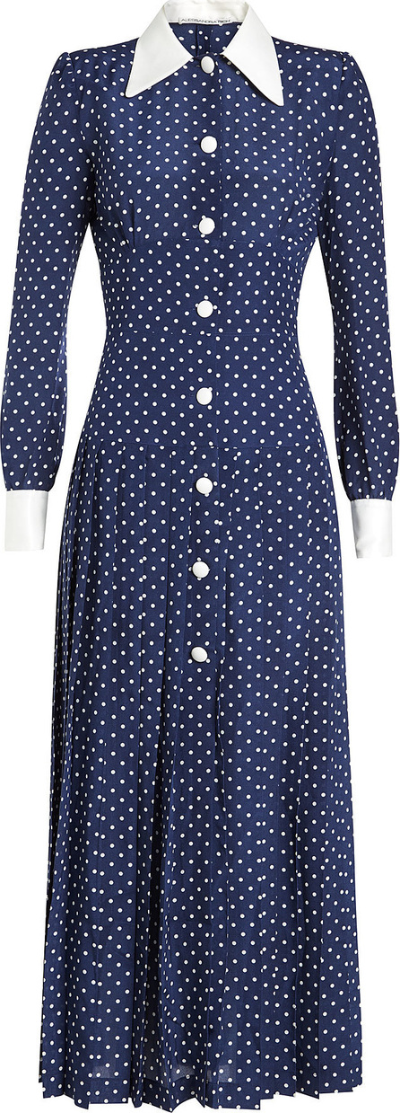 Alessandra Rich Silk Dress with Polka Dots