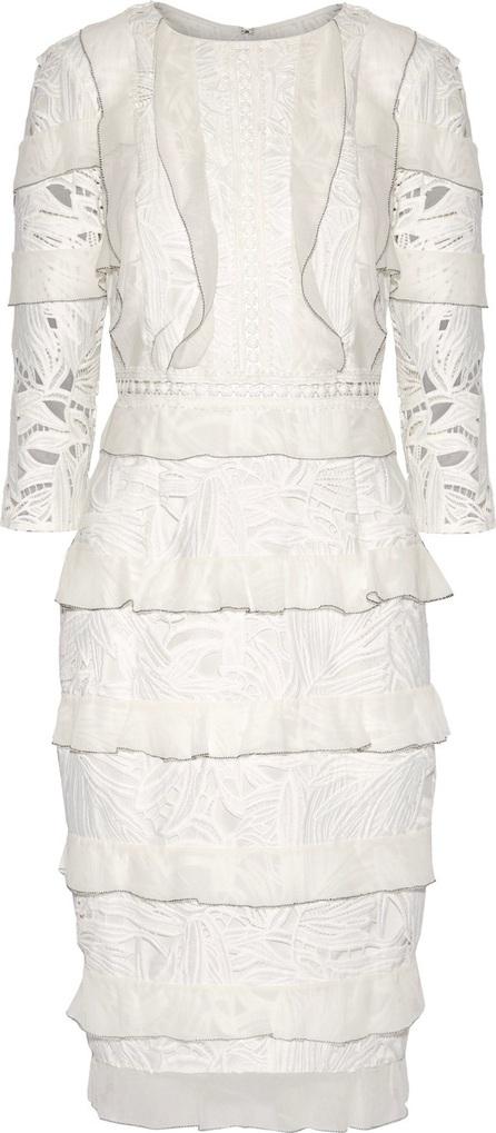 Noir Sachin & Babi Lavinia crochet-trimmed ruffled guipure lace dress