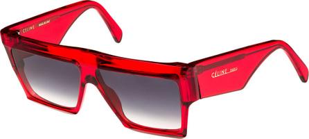 Celine Bold Angular Acetate Sunglasses