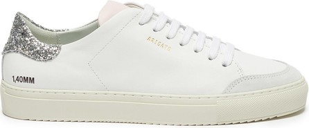 Axel Arigato 'Clean 90' glitter tab contrast tongue leather sneakers