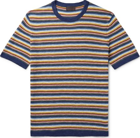 Altea Striped Cotton and Linen-Blend Sweater