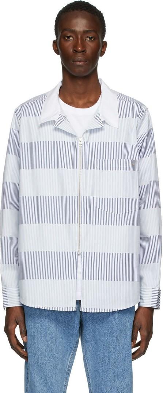 Eytys Blue & White Stripe Daytona Jacket