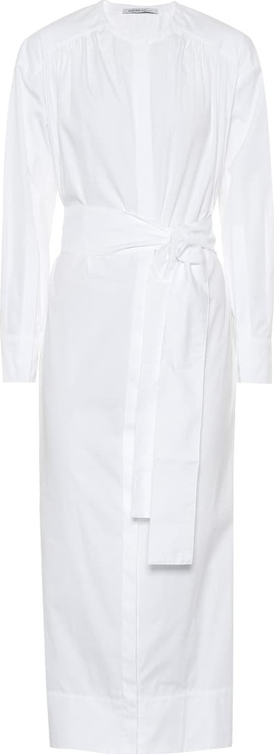Agnona Cotton poplin maxi shirt dress