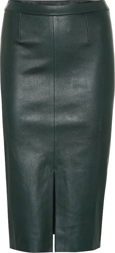 Stouls Exclusive to Mytheresa – Carmen leather midi skirt