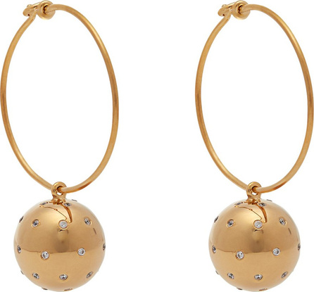Theodora Warre Gold-plated ball and hoop earrings
