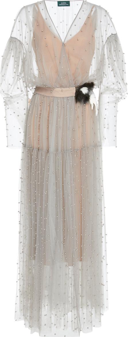 Alena Akhmadullina Pearl Embroidered Sheer Dress