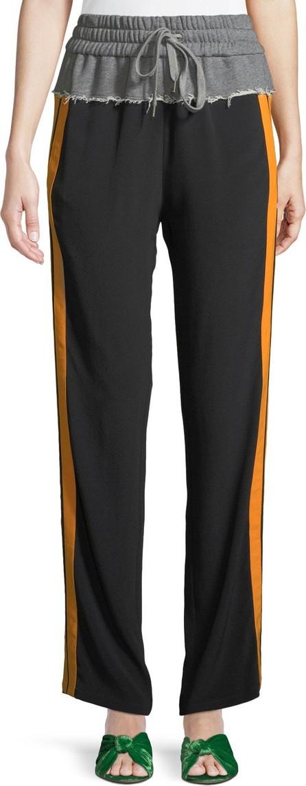 Nº21 Side Striped Tie-Waist Sweatpants