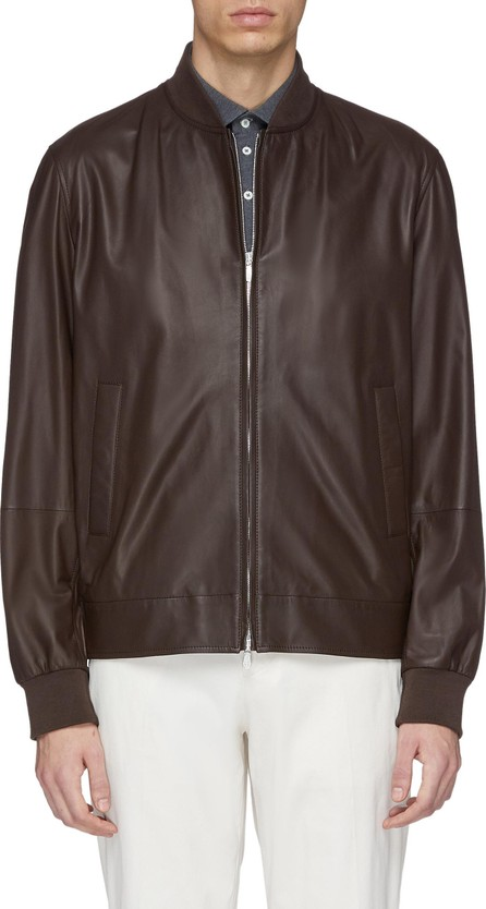 Brunello Cucinelli Leather bomber jacket