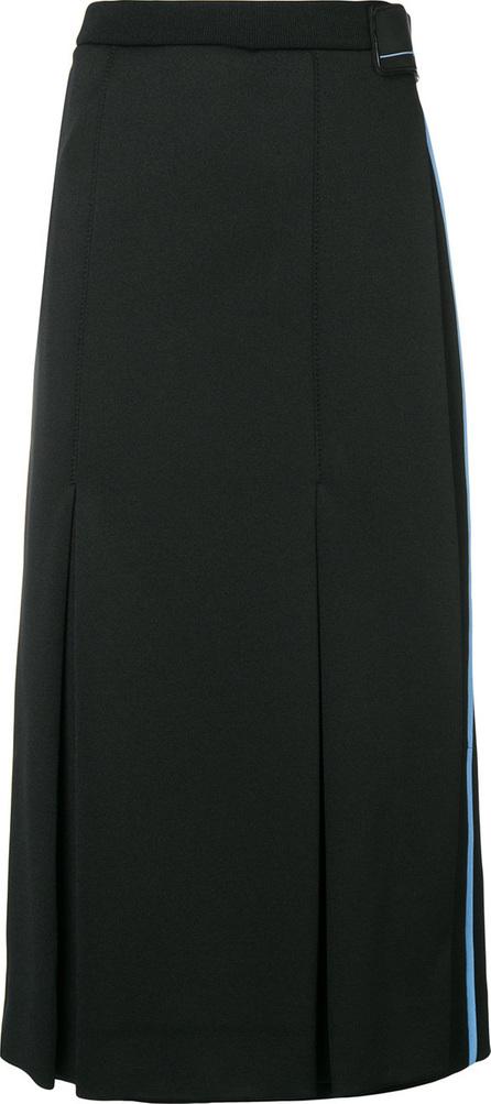 Prada Logo side stripe skirt