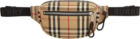 Burberry London England Beige Small Cannon Bum Bag