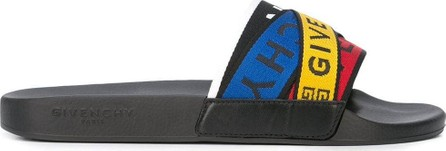Givenchy multicolor logo slides