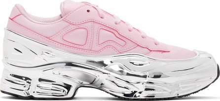 Raf Simons Pink & Silver adidas Originals Edition Ozweego Sneakers