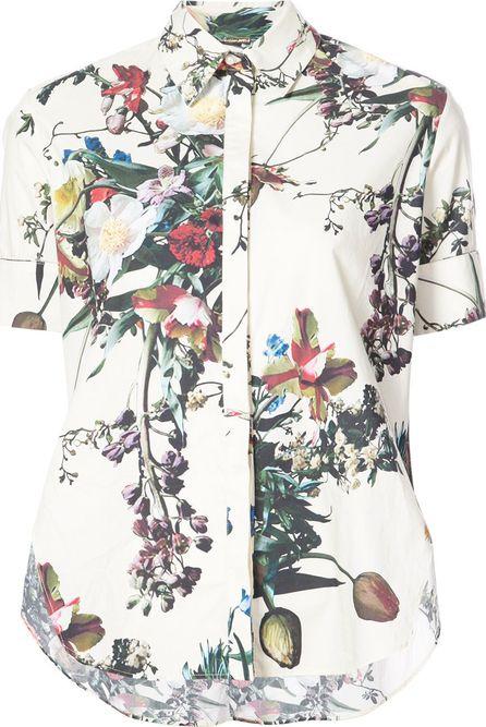 Adam Lippes flared floral print shirt
