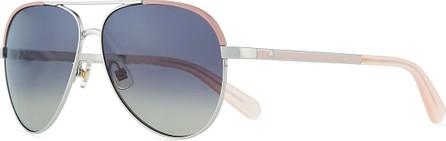 Kate Spade New York amarissa metal gradient aviator sunglasses