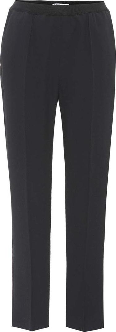 Agnona Crêpe cropped trousers
