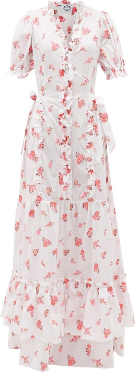 Evi Grintela Mansour ruffled cotton-voile dress