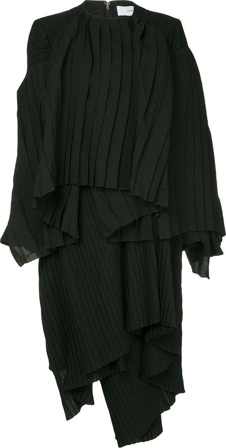 FACETASM Facetasm x Woolmark asymmetric pleated dress