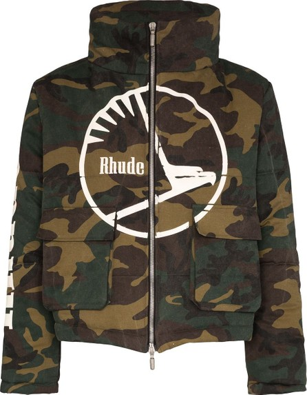 RHUDE Collage camouflage puffer jacket