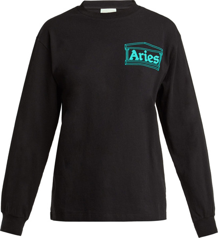 Aries Logo long-sleeved cotton T-shirt