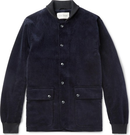 Oliver Spencer Berwick Cotton-Corduroy Bomber Jacket