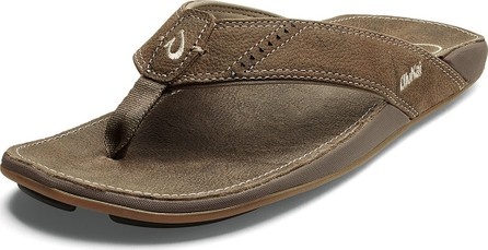 Olukai Men's Nui Leather Thong Sandals