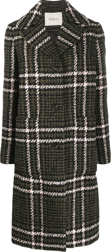 Mulberry Claire Large Tri-Check coat