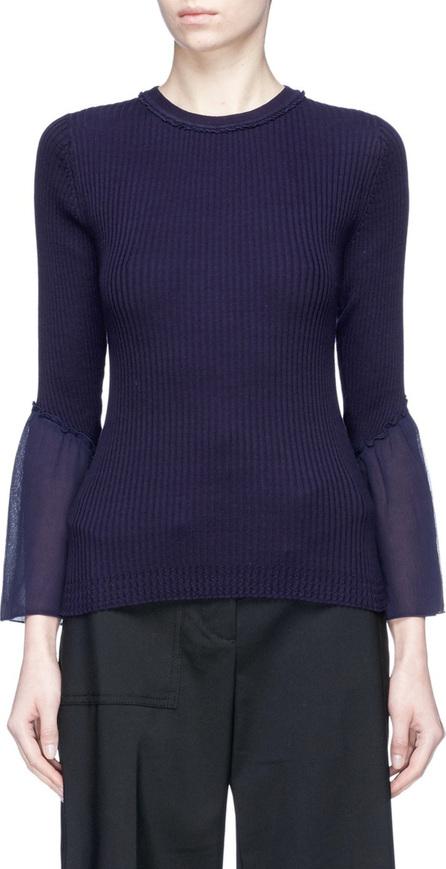 3.1 Phillip Lim Chiffon cuff sweater