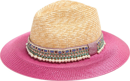 Etro Pink bi-colour embellished hat