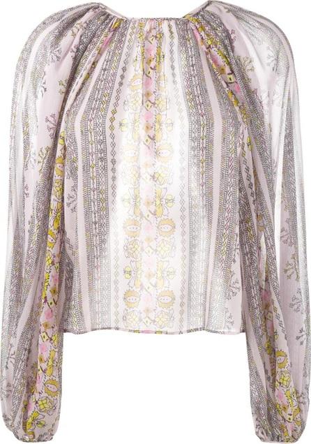 Giambattista Valli printed balloon-sleeved blouse