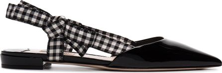 Miu Miu Flat peep toe sandals