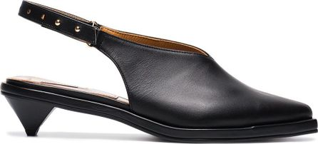 Reike Nen Leather 40 slingback pumps with ribbon ankle tie