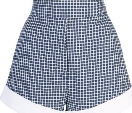 Sara Battaglia Check print shorts