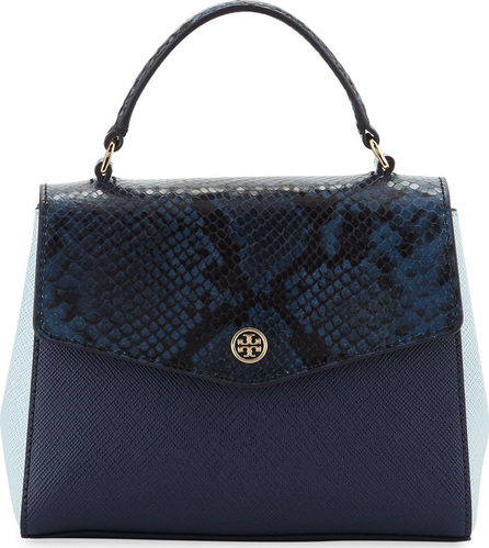 Tory Burch Robinson Colorblock Mixed Handbag