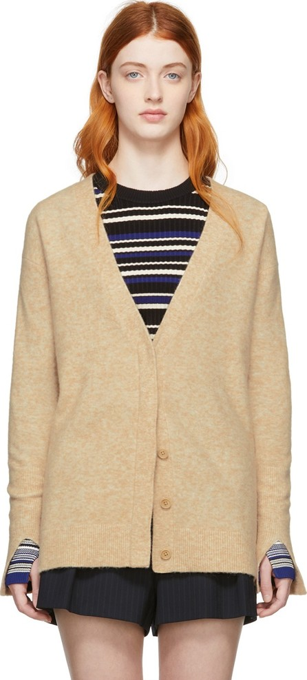 3.1 Phillip Lim Beige Side Slit Lofty Cardigan