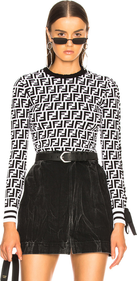Fendi Logo Print Viscose Sweater