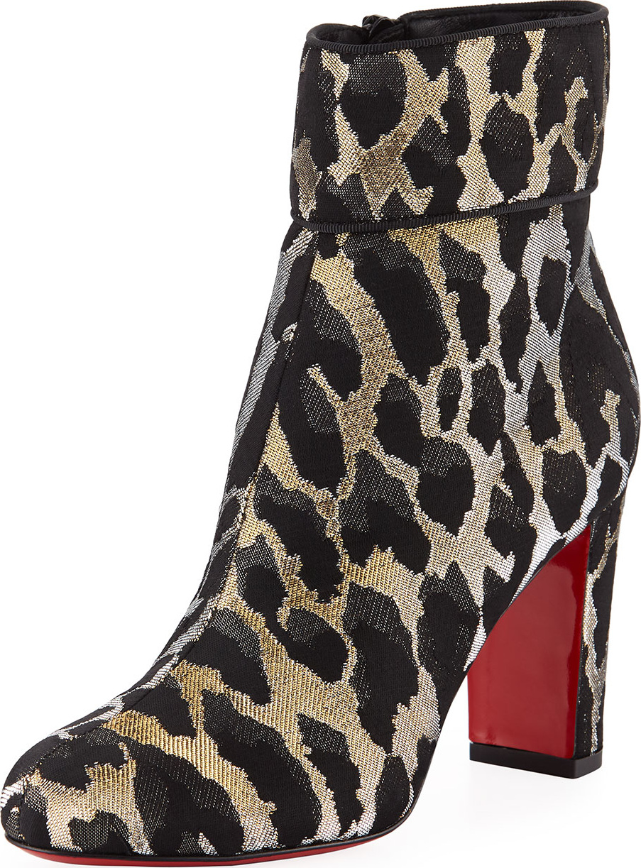 pretty nice 4c6db 97d9e Christian Louboutin Moulamax 85mm Feline Red Sole Booties - Mkt