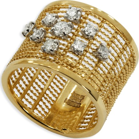Staurino Fratelli 18k Gold Renaissance Dancing Diamond Ring, Size 7