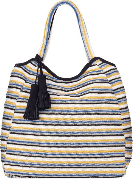 Casa Isota Emma Striped Cotton Tote Bag