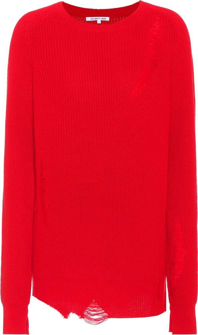 Helmut Lang - Shredded wool and cashmere sweater