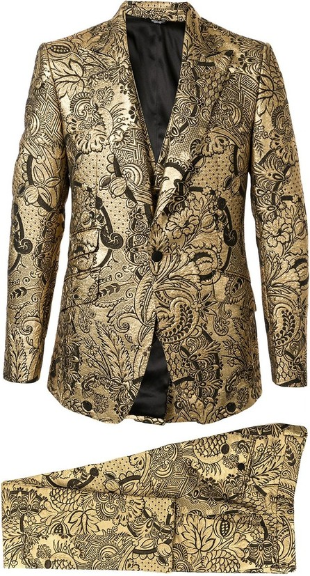 Dolce & Gabbana Floral brocade two-piece suit
