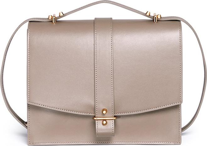 Haerfest - 'Agnes' cowhide leather crossbody satchel
