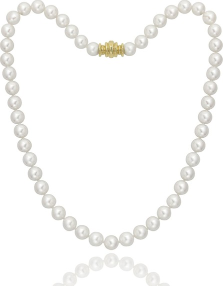 """Assael Short 6.5mm Akoya Pearl-Strand Necklace w/ 18k Gold, 16""""L"""