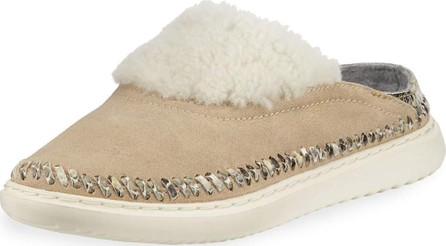 Cole Haan 2.ZeroGrand Convertible Suede Slipper Mules, Warm Sand