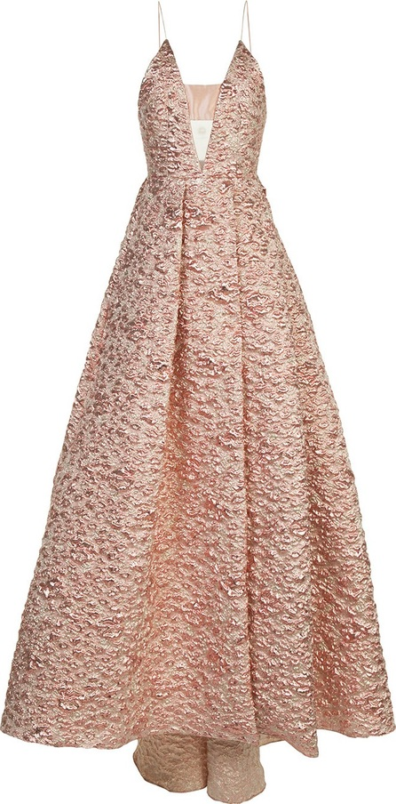 Alex Perry strapless jacquard gown