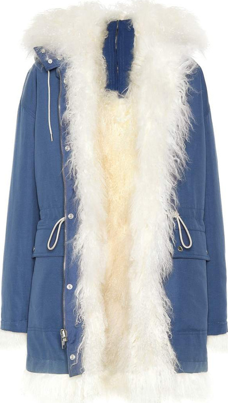 Calvin Klein 205W39NYC Shearling-lined cotton coat