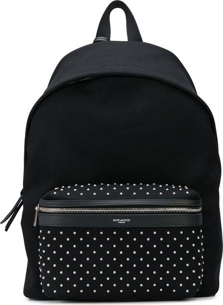 Saint Laurent City studded backpack