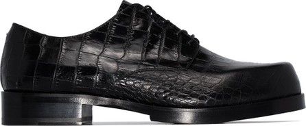 1017 ALYX 9SM Crocodile effect lace-up shoes